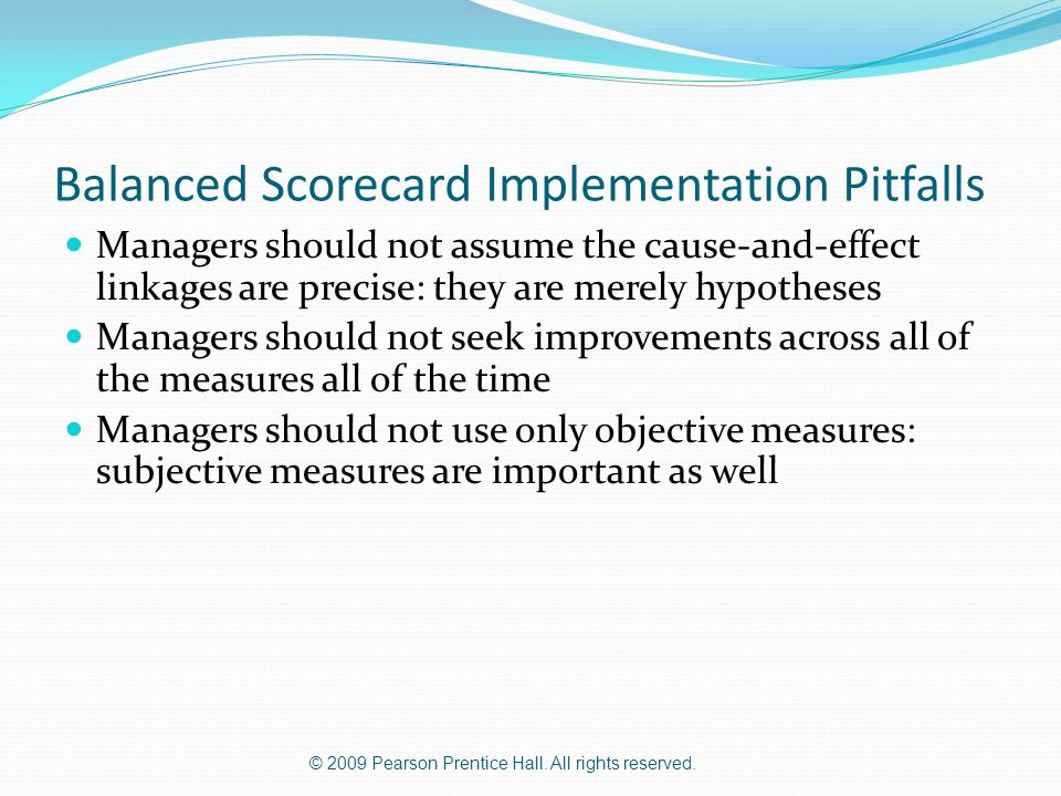 Balanced Scorecard Implementation Pitfalls
