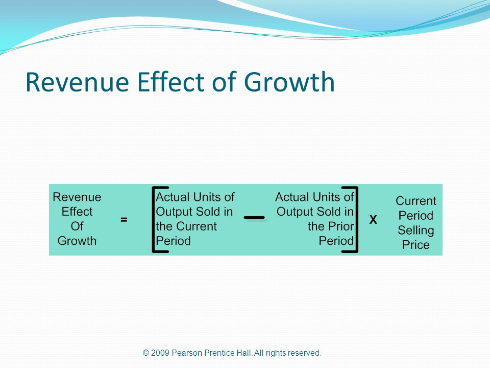 Revenue Effect of Growth