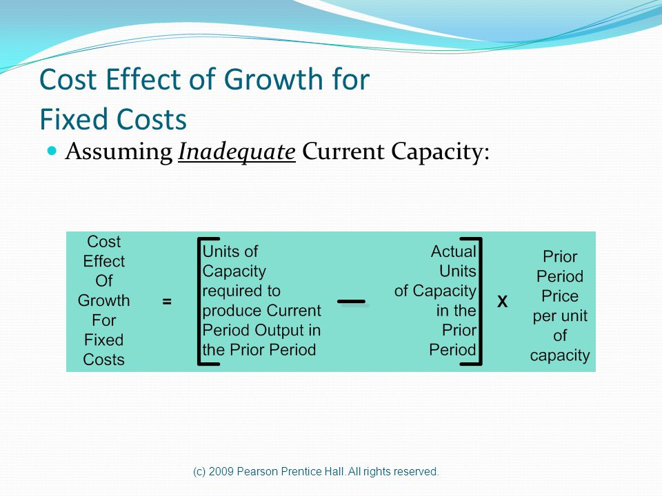 Cost Effect of Growth for Fixed Costs