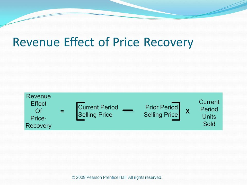 Revenue Effect of Price Recovery