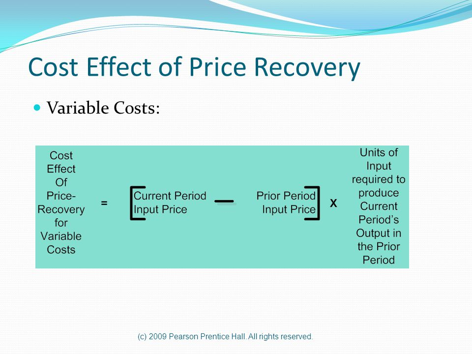 Cost Effect of Price Recovery
