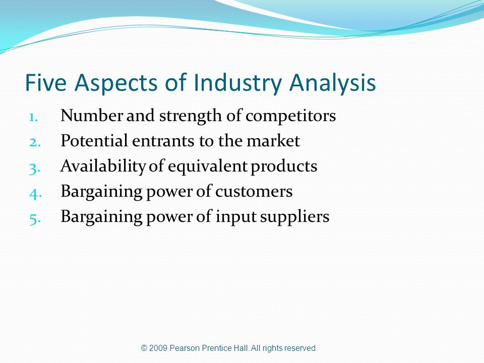 Five Aspects of Industry Analysis