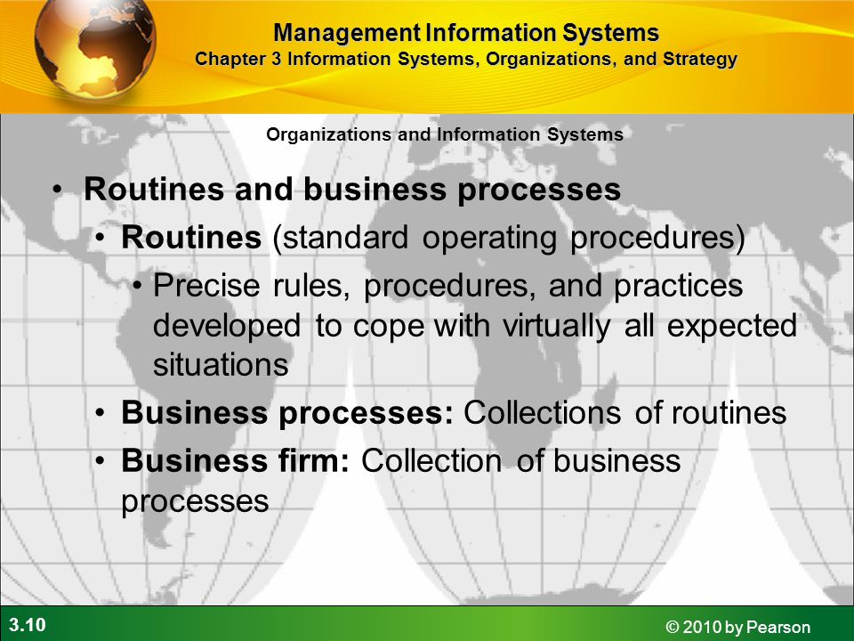 Routines and business processes