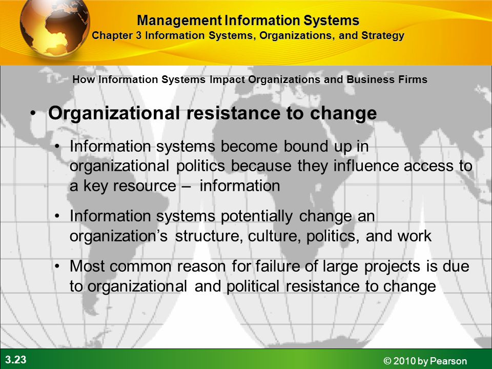 Organizational resistance to change