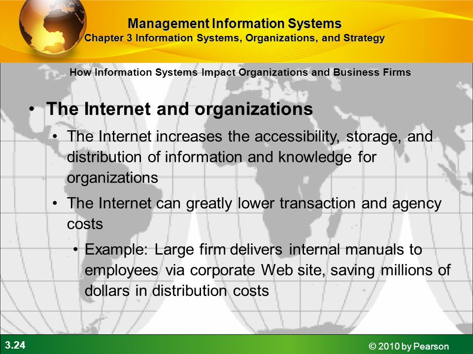 The Internet and organizations