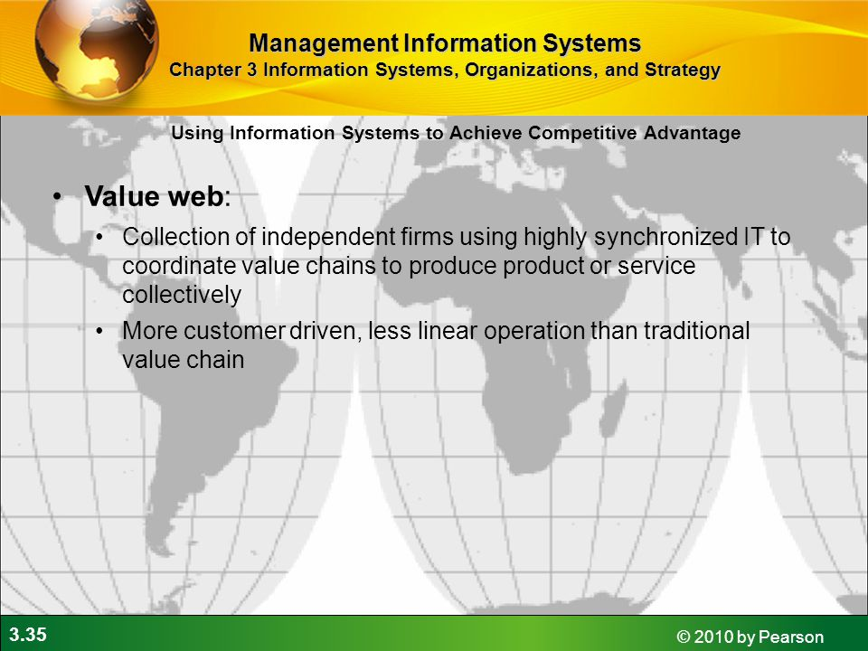 Value web: Management Information Systems