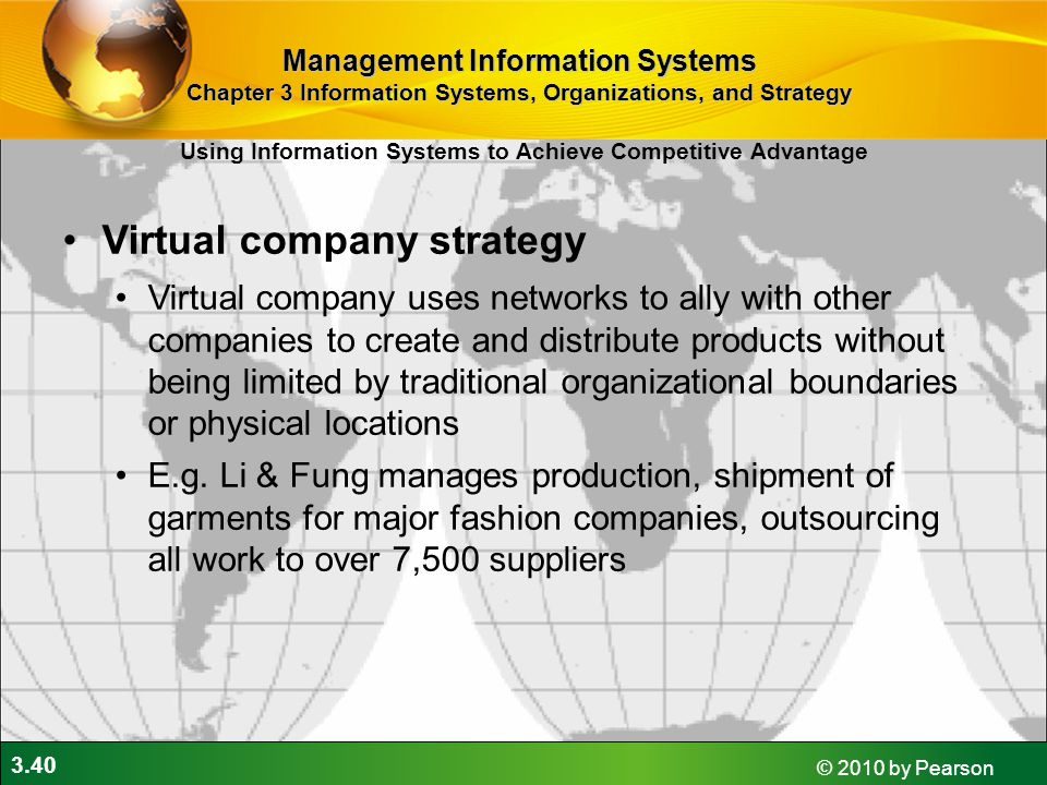 Virtual company strategy