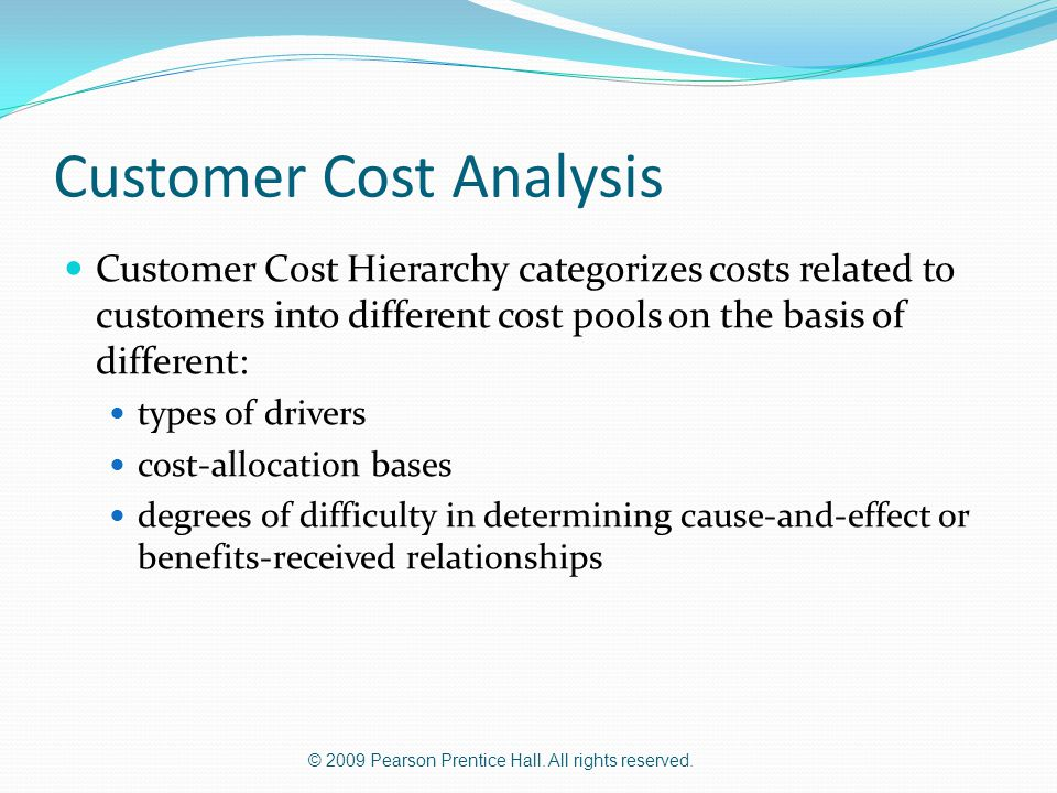 Customer Cost Analysis