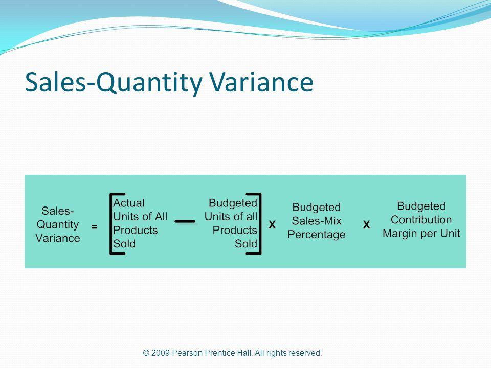 Sales-Quantity Variance