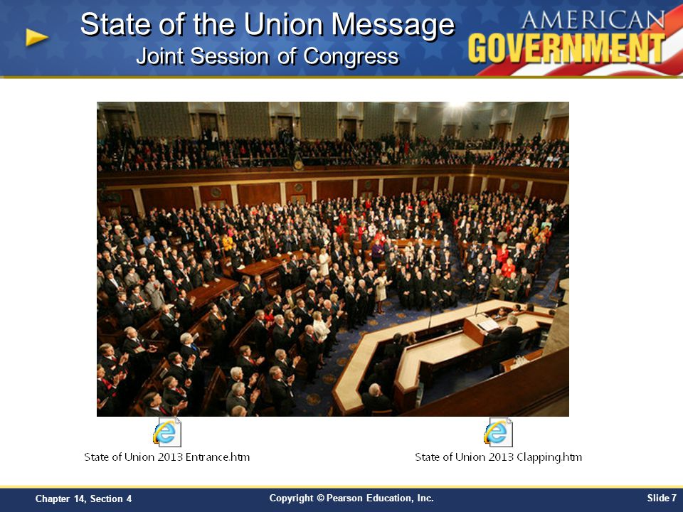 State of the Union Message Joint Session of Congress