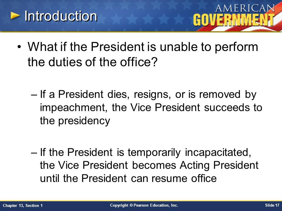 Introduction What if the President is unable to perform the duties of the office