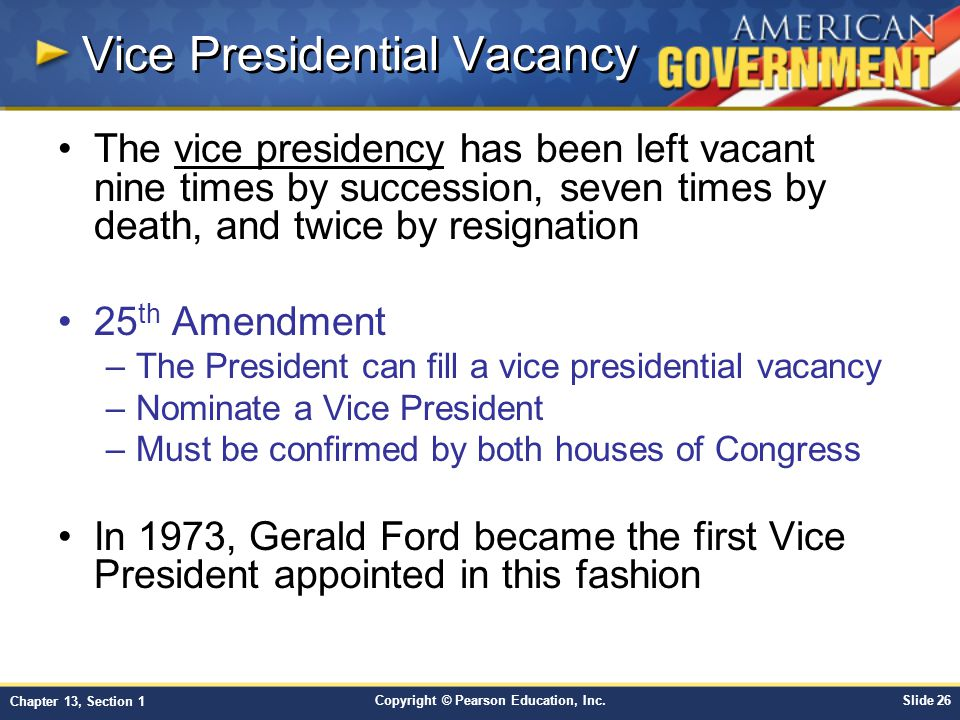 Vice Presidential Vacancy