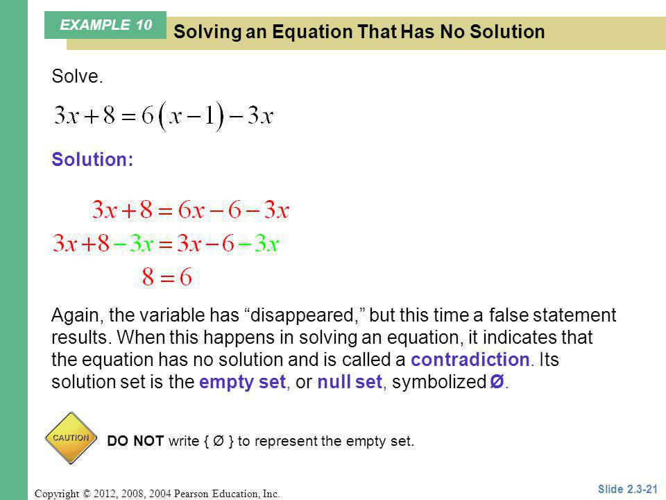 Solving an Equation That Has No Solution