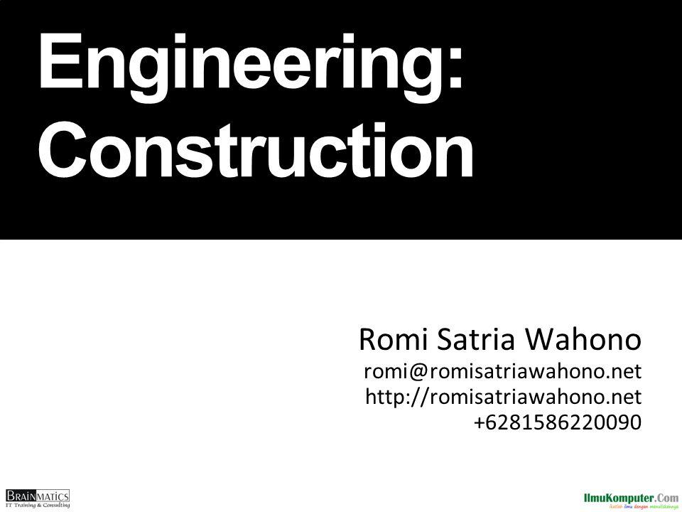 Software Engineering: Construction