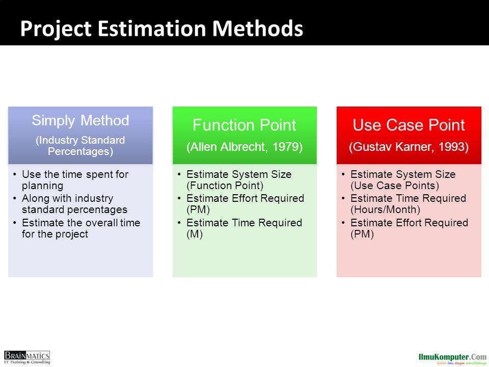 Project Estimation Methods
