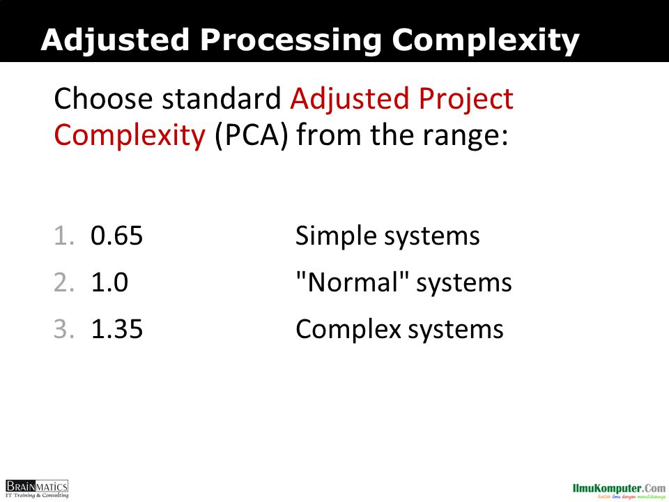 Adjusted Processing Complexity