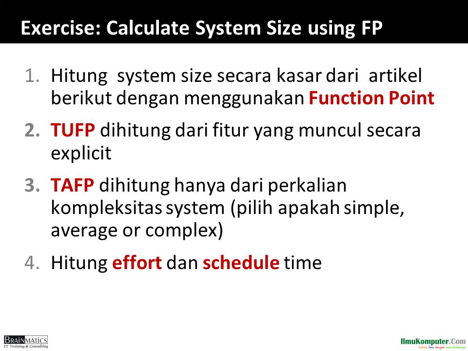 Exercise: Calculate System Size using FP
