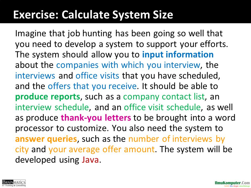 Exercise: Calculate System Size