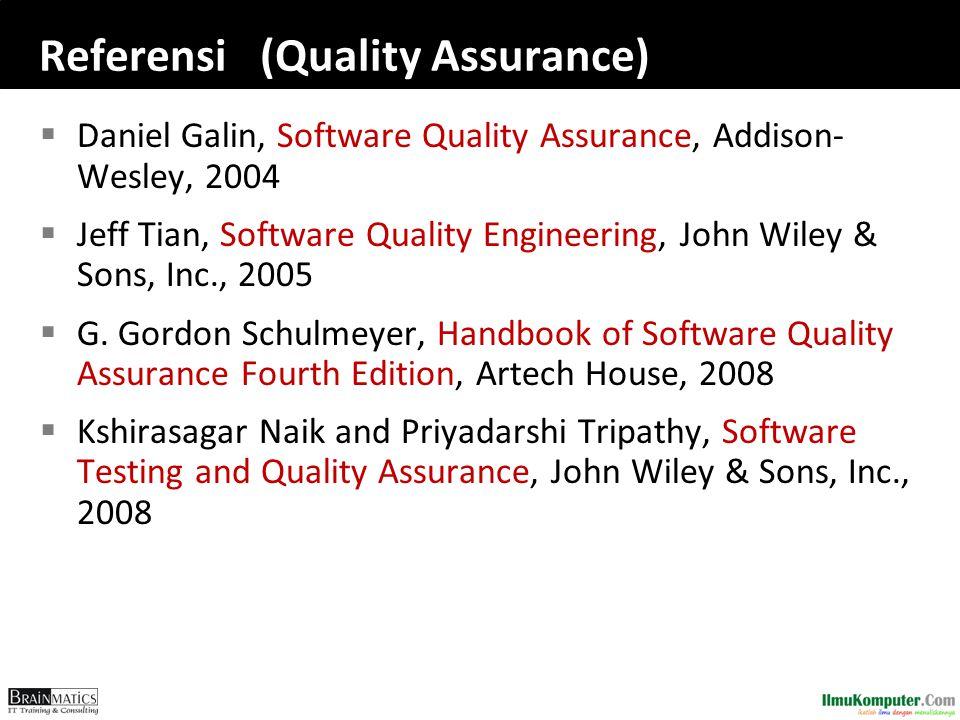 Referensi (Quality Assurance)