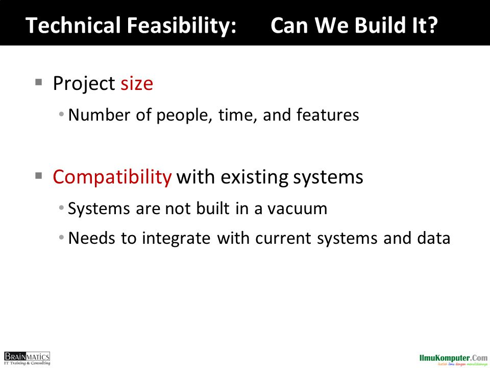 Technical Feasibility: Can We Build It