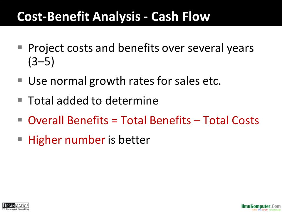 Cost-Benefit Analysis - Cash Flow