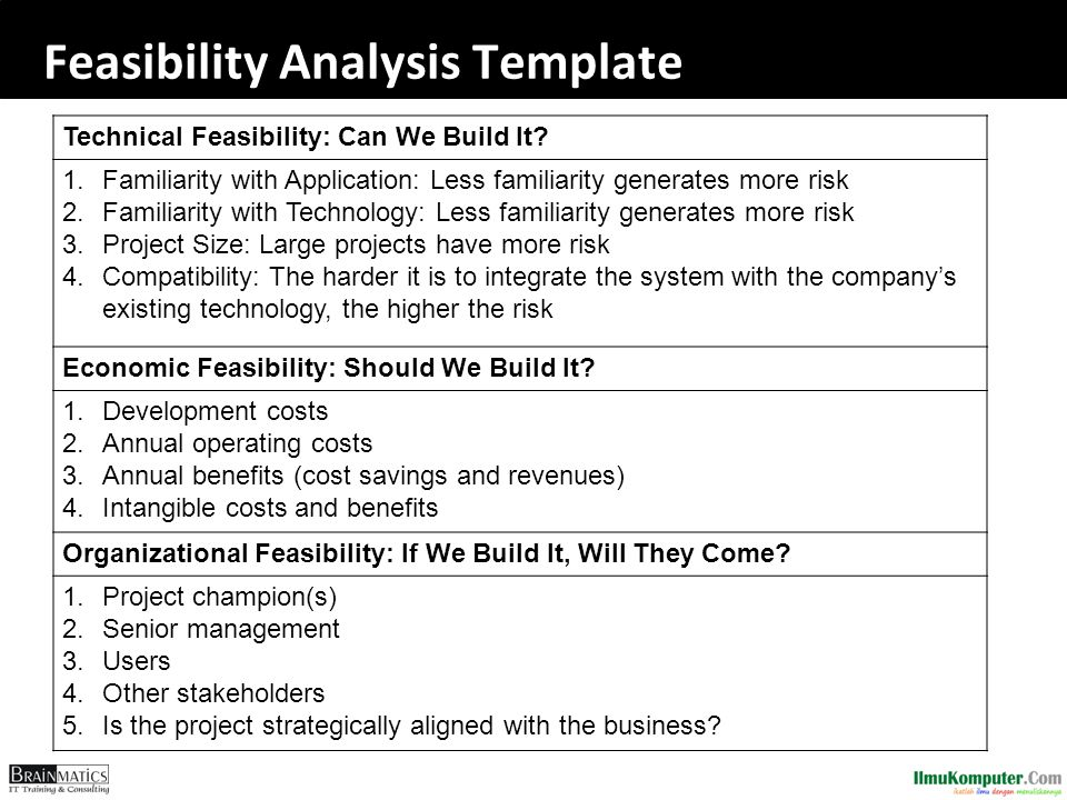 Software engineering construction ppt download for Business feasibility study template free download