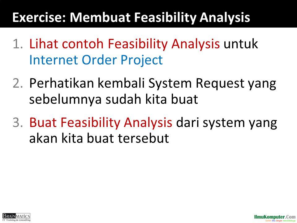 Exercise: Membuat Feasibility Analysis
