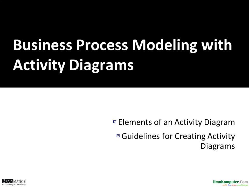 Business Process Modeling with Activity Diagrams