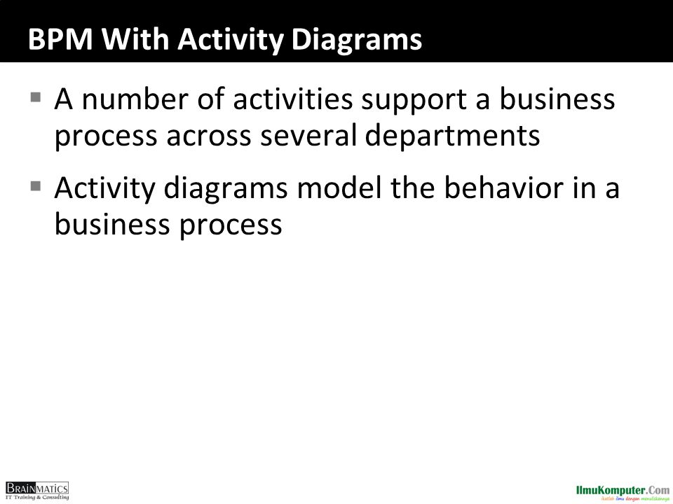 BPM With Activity Diagrams