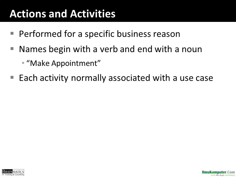 Actions and Activities