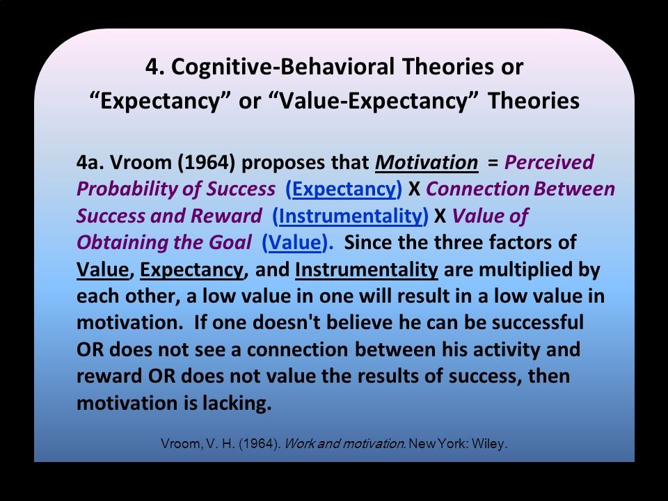 4. Cognitive-Behavioral Theories or