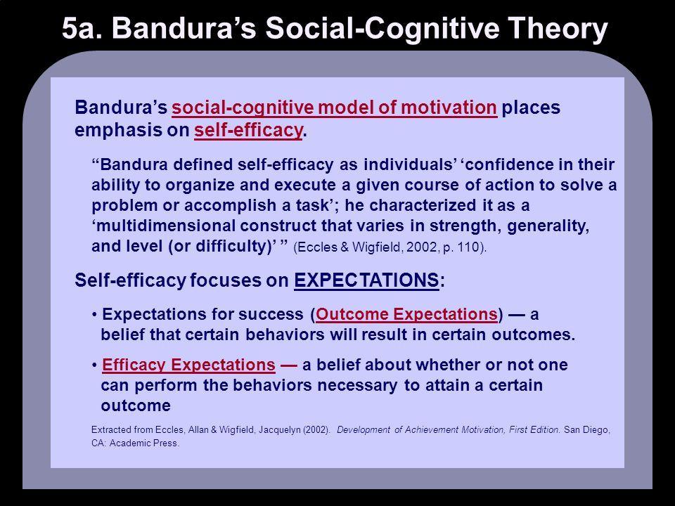 5a. Bandura's Social-Cognitive Theory