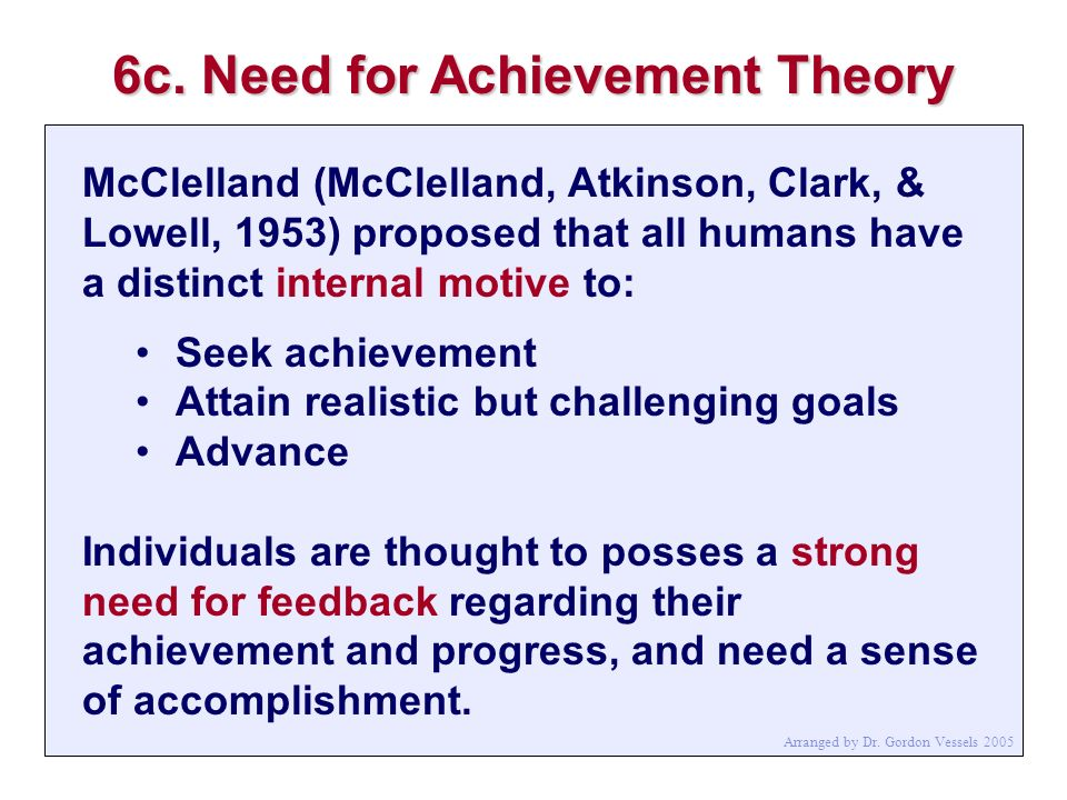 6c. Need for Achievement Theory
