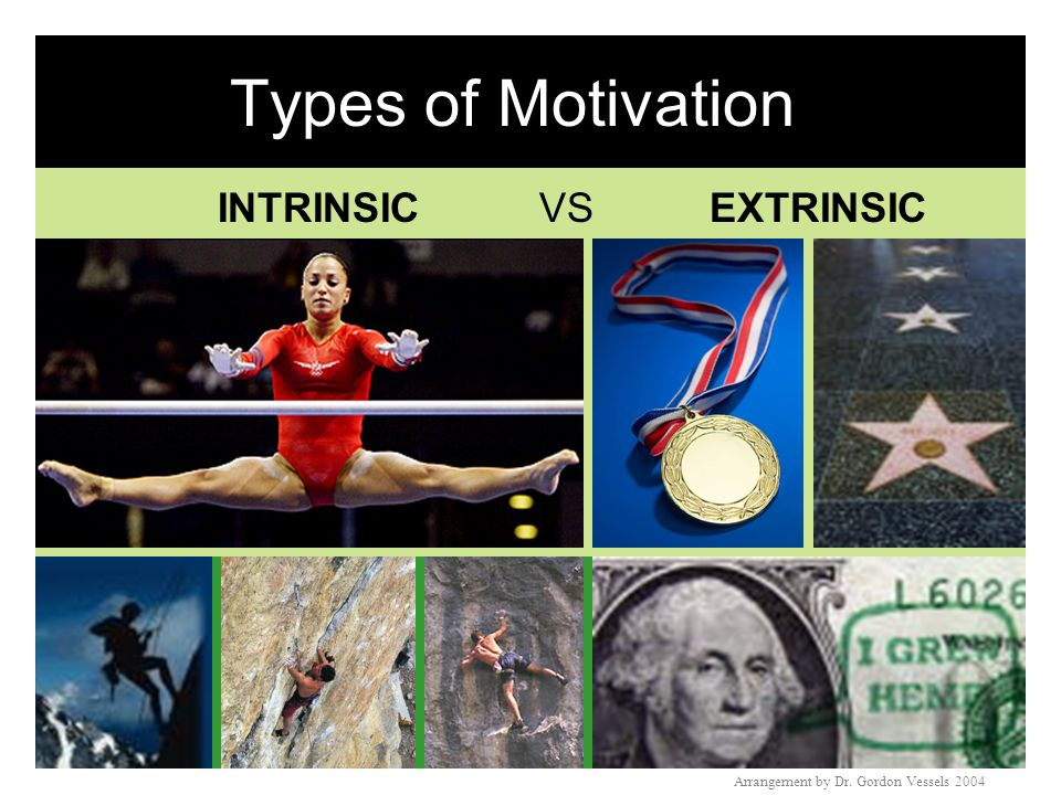 Types of Motivation INTRINSIC VS EXTRINSIC
