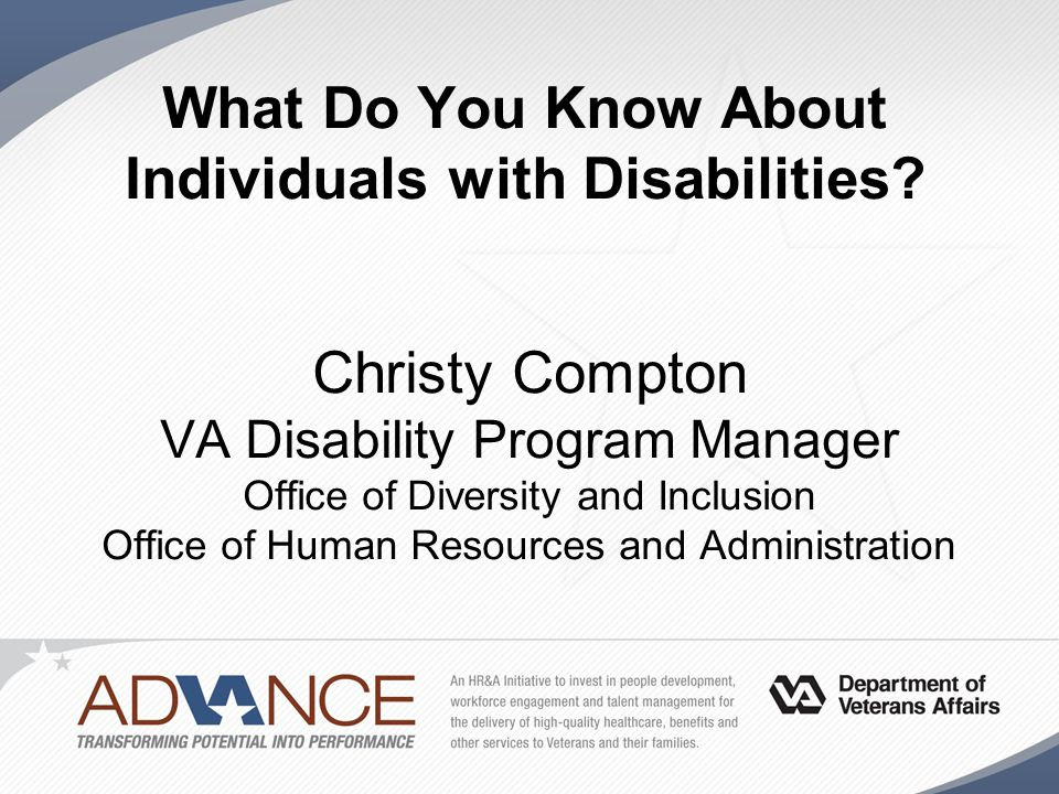 What Do You Know About Individuals with Disabilities