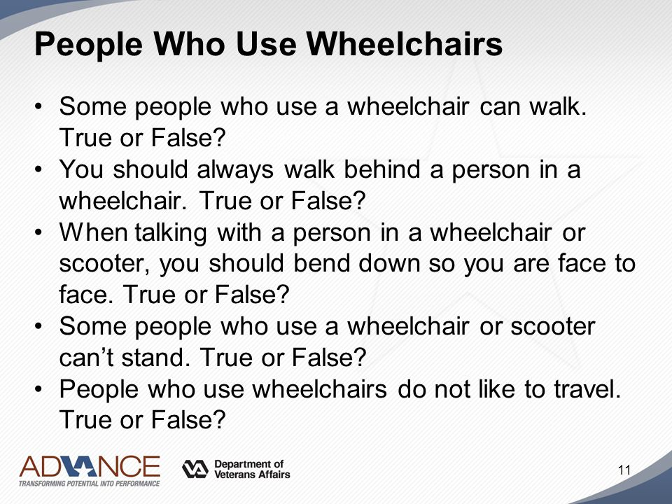 People Who Use Wheelchairs