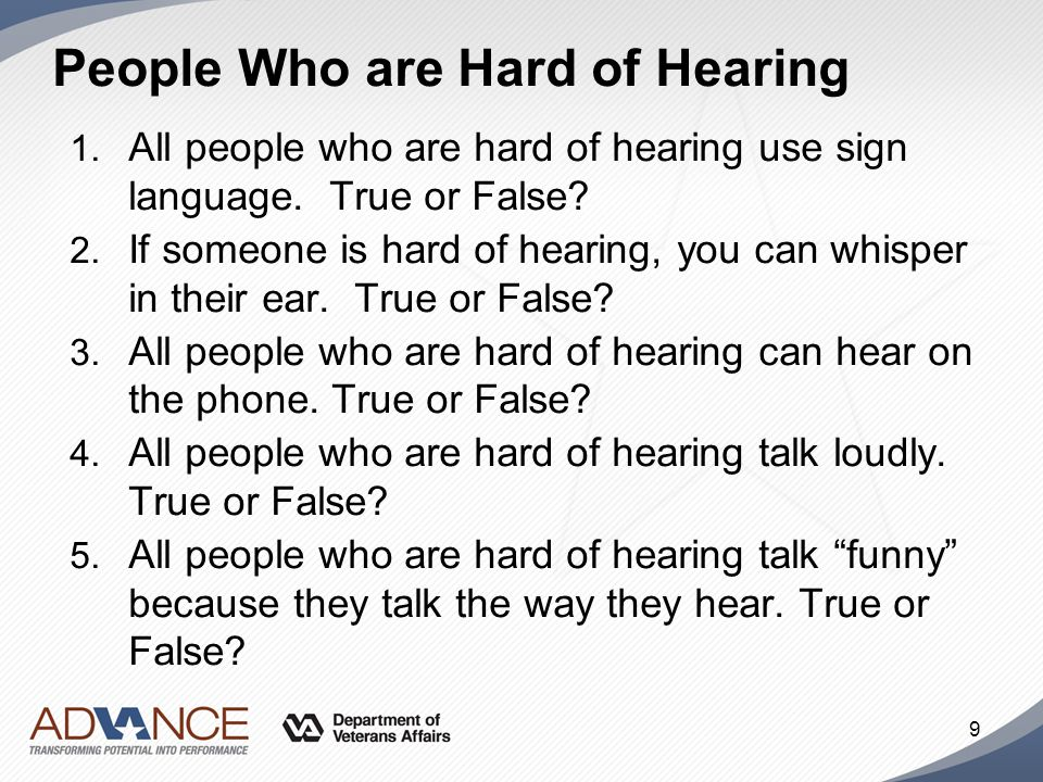 People Who are Hard of Hearing