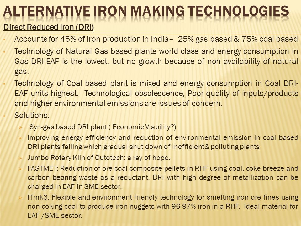 Alternative Iron making Technologies