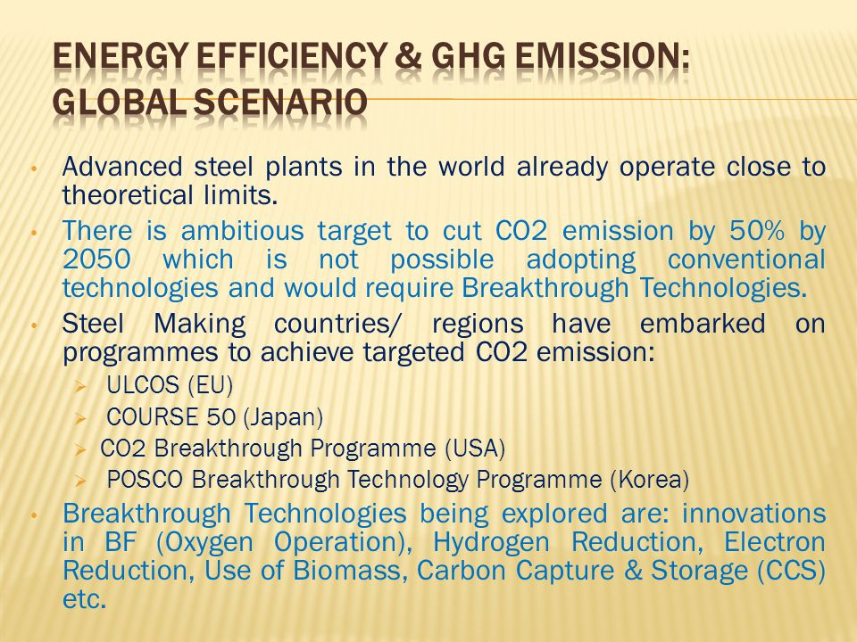 Energy Efficiency & GHG Emission: Global Scenario