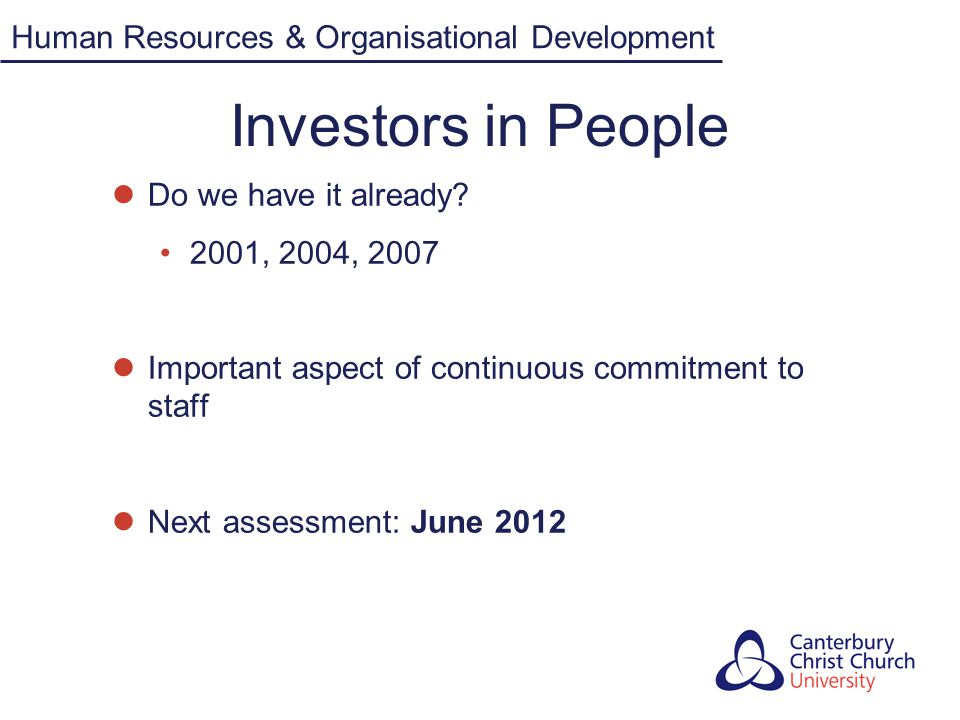 Investors in People Human Resources & Organisational Development