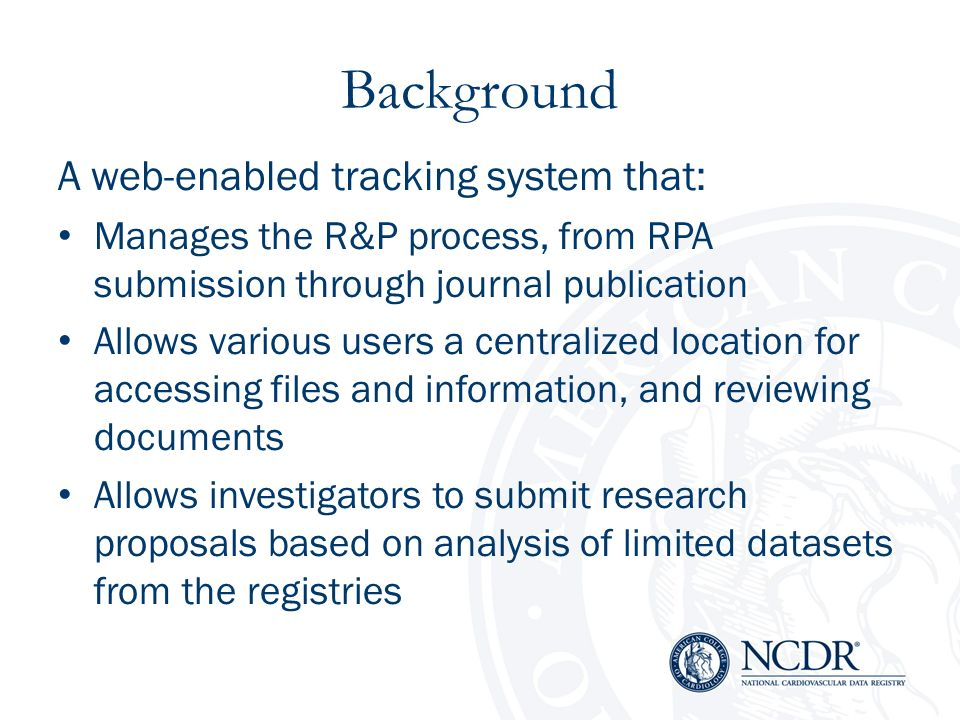 Background A web-enabled tracking system that: