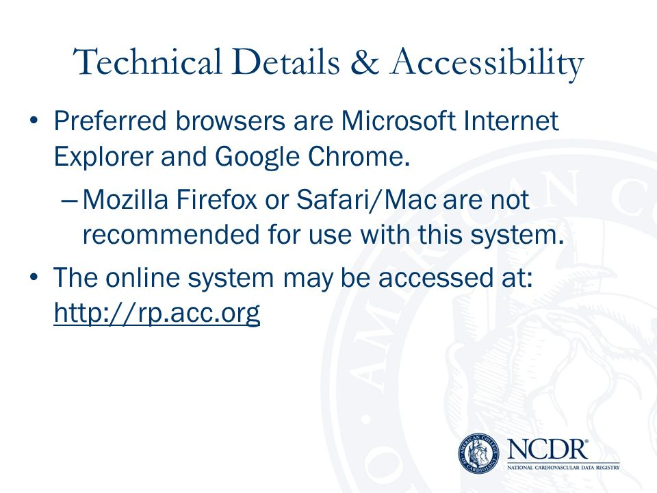 Technical Details & Accessibility