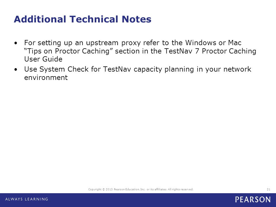 Additional Technical Notes