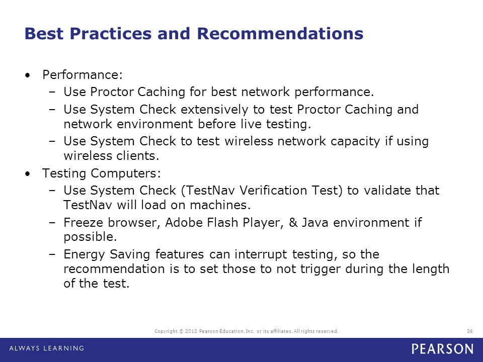 Best Practices and Recommendations