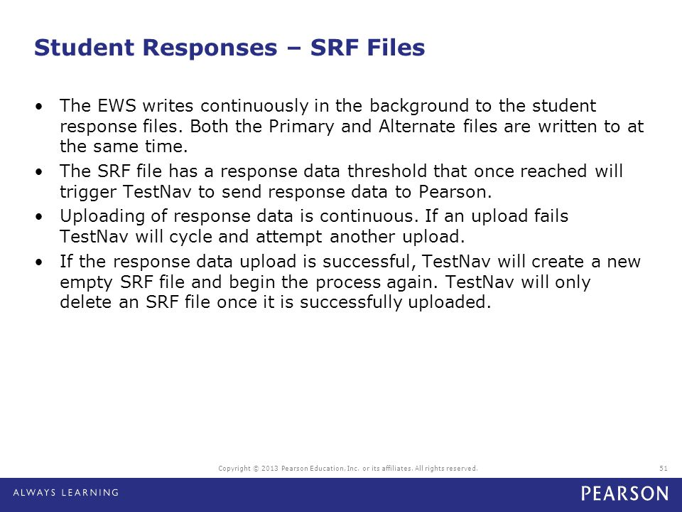 Student Responses – SRF Files