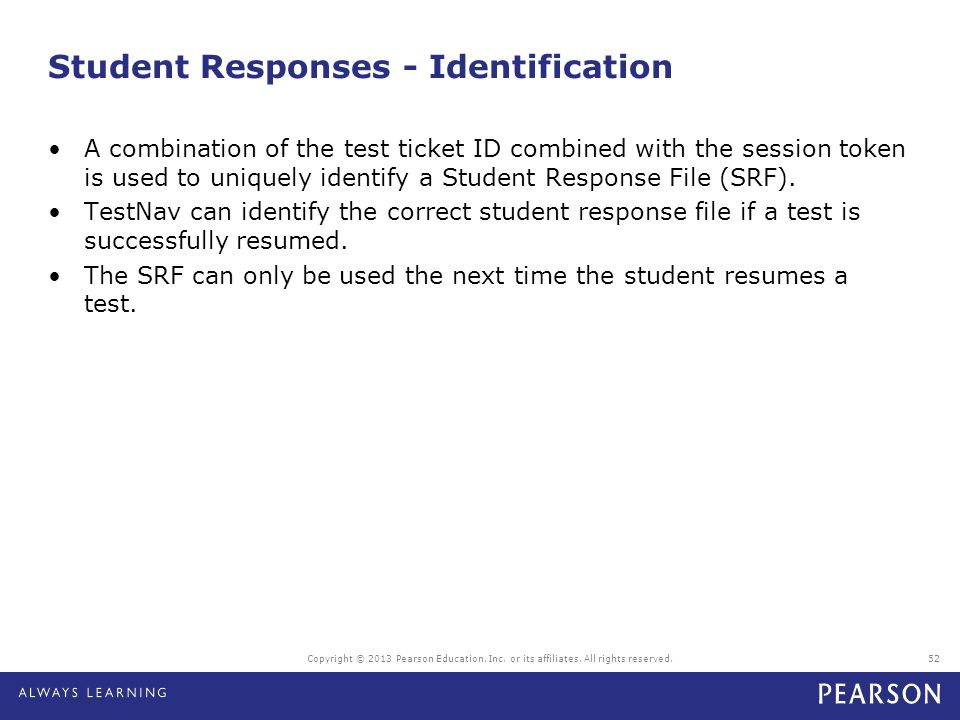 Student Responses - Identification