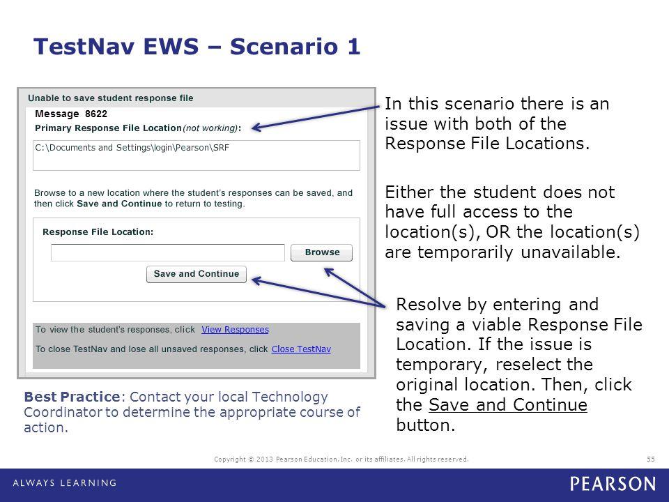 TestNav EWS – Scenario 1