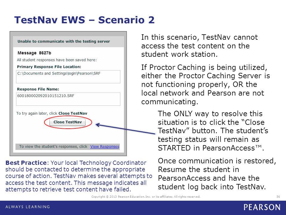 TestNav EWS – Scenario 2