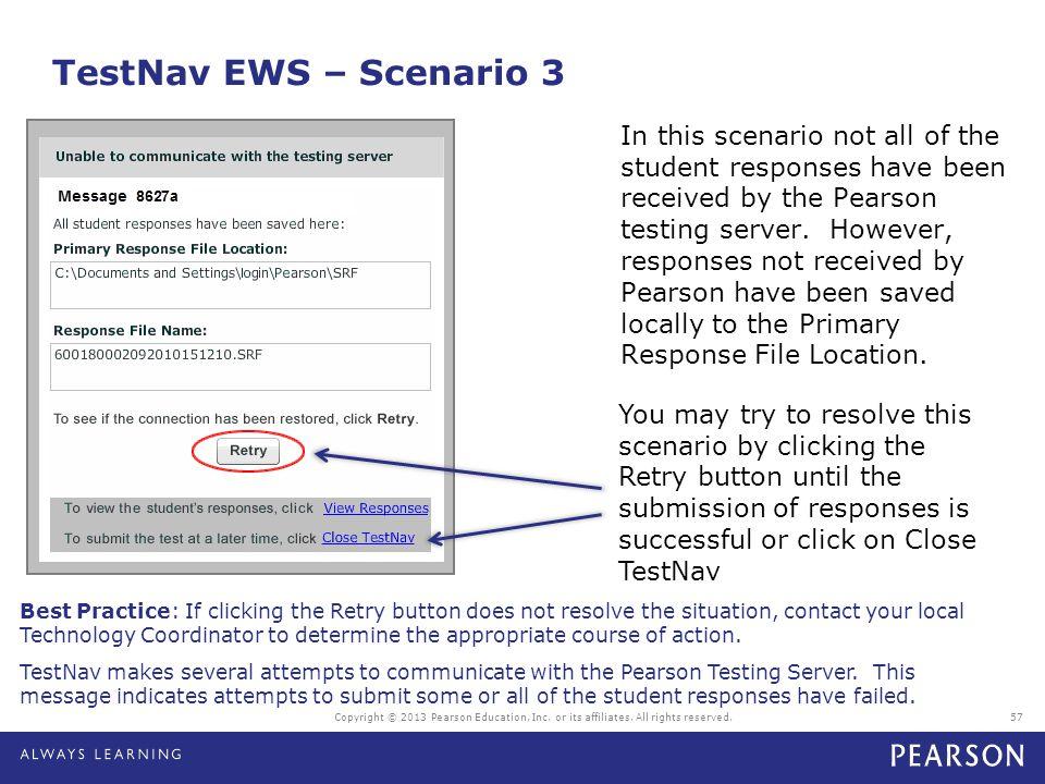 TestNav EWS – Scenario 3