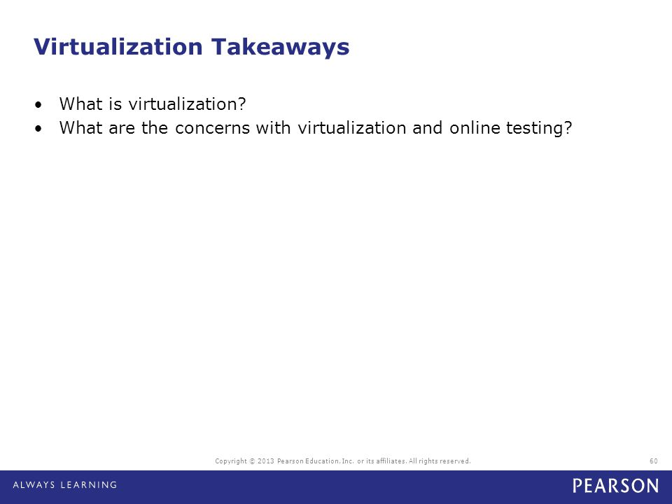Virtualization Takeaways